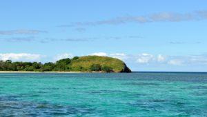 vu de l'îlot Uo avec Blue lagoon taxiboat à Nouméa
